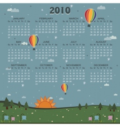 Calender for 2010 vector