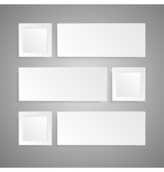Paper banner design  mockup rectangle vector