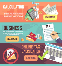 online tax accountanting taxation business vector image
