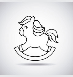 tender cute horse wooden card icon vector image