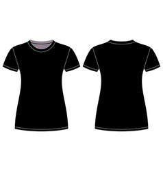 Black t-shirt design template vector