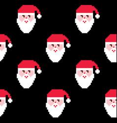 santa seamless pattern christmas wallpaper xmas vector image