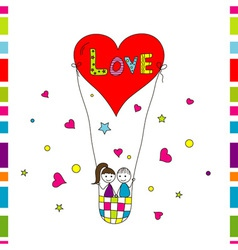 Love story card vector