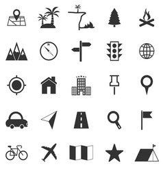 Location icons on white background vector