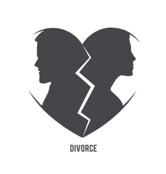 Divorce visual concept vector