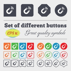 Magnet icon sign big set of colorful diverse vector