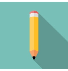 Pencil icon colored flat vector