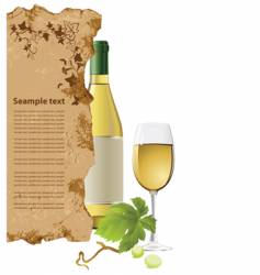 White wine vector