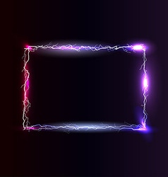 Light electric frame vector