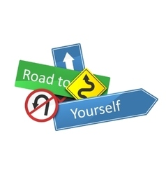 Road to yourself vector