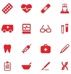 Set icons for medical and health vector image