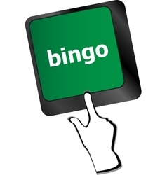 Bingo button on computer keyboard keys vector