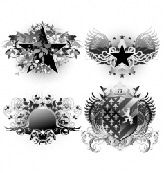 shields decorative vector image