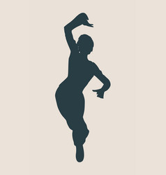 abstract women in dancing pose vector image vector image