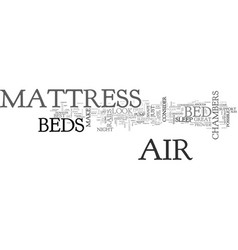Air mattress beds text word cloud concept vector