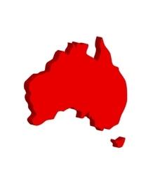Australian continent bulk vector