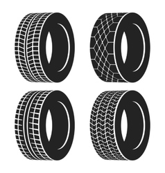 Car tire or rubber wheel for auto isolated vector