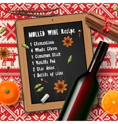 Christmas drink mulled wine vector image