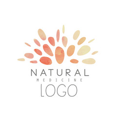 Creative logo with abstract watercolor pattern vector