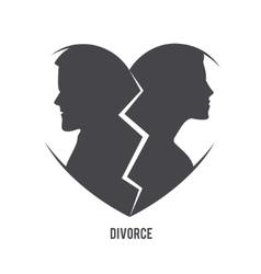 Divorce visual concept vector