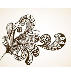 floral hand drawn ornament vector image