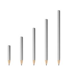 Gray wooden sharp pencils vector image vector image