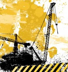 grunge cranes vector image vector image