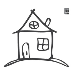 Hand drawn sketch of house vector image vector image
