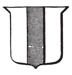 Heraldry pale have vertical stripe on shield vector