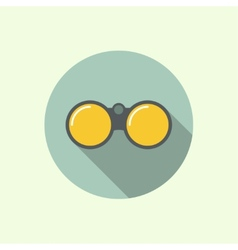 icon of binoculars vector image vector image