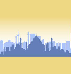 india silhouette architecture buildings town city vector image