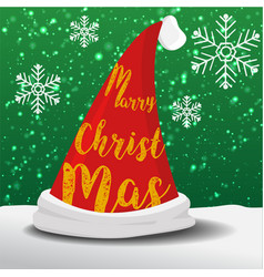 marry christmas hat vector image vector image