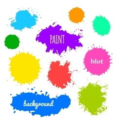 paint splash set of brush strokes vector image vector image