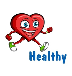 Running heart vector