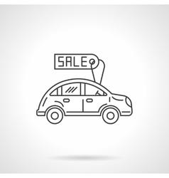 Sale automobile icon flat line design icon vector image vector image