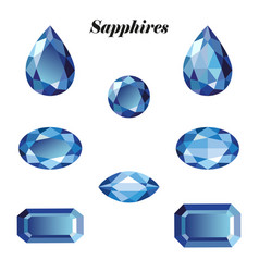 sapphires set isolated vector image vector image