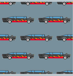 Seamless pattern luxury limousine long car vector