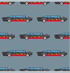 Seamless pattern luxury limousine long car vector