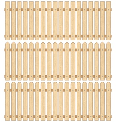 Set of Three Wooden Fences vector image