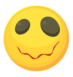 Sleepy smiley icon cartoon style vector