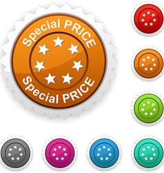 Special price award vector