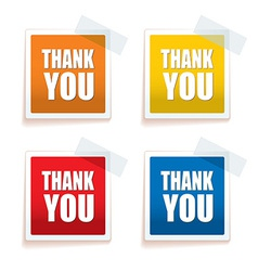 Thank you tag colour vector image vector image
