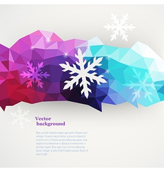 winter composition made of triangles with vector image vector image