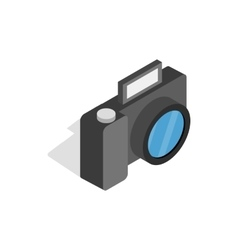 Camera icon isometric 3d style vector