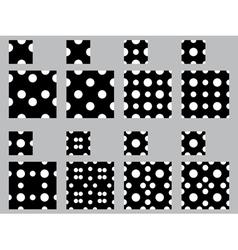 Polka dot patterns vector