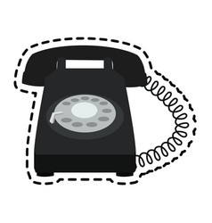 Landline telephone icon image vector