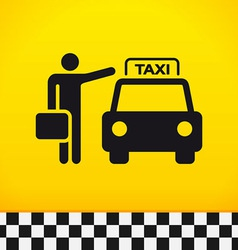 Taxi theme with passenger vector