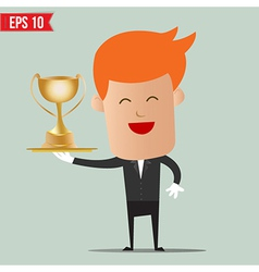 Waiter serve winner champion cup - - eps10 vector