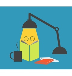 Study with a lamp vector image