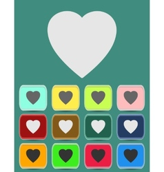 Human heart icons or symbols for love vector